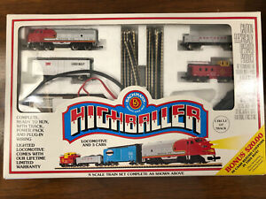 New Bachmann Highballer N Scale Electric Train Set 50-4300 Santa Fe Orig Papers