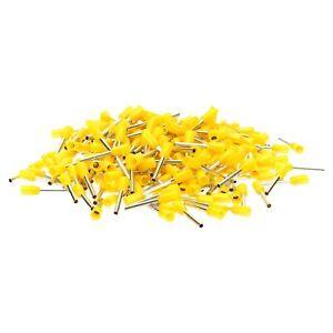 500 Piece Wire Ferrules Insulated 1, 0mm ² Yellow 0 15/32in Long Ferule Ferrules