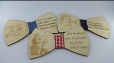 papillon uomo in legno  personalizzato con foto o scritta incisa