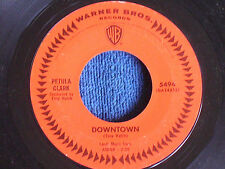 Petula Clark/Downtown-You'd Better Love Me/Orange Label Warner Bros 5494/EX