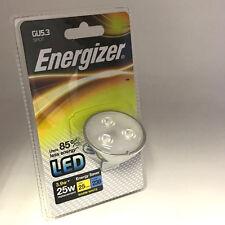 4 x Energizer LED GU5.3 W Luce Spot 12V Lampadina 3,9 W 25W Caldo Bianco Nuovo