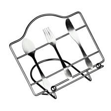 Cutlery Design Recipe Stand Made Using Durable Metal Wire Everyday Kitchen Item