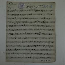 antique music manuscript MOZART posthorn serenade in D kv 320 trumpet 1 part