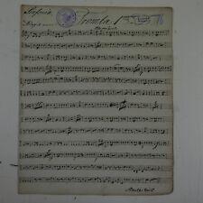 antique music manuscript MOZART posthorn serenade in D kv 320 trumpet 1 part