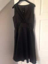 BNWT Next Signature Black Drape V Neck Empire Line Shift Dress Sz 16