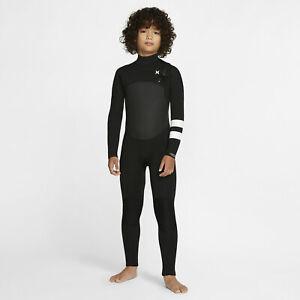 Kid's Hurley Advantage Plus 4/3 mm Wetsuit - CHOOSE SIZE - BV5242-010 Fullsuit