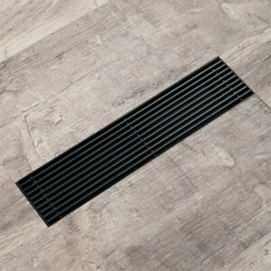Black Shower Drain 304 Stainless Steel Shower Floor Drain Long Linear Drainage