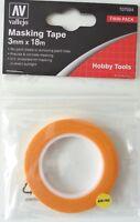 (0,17€/m) Vallejo T07004, Masking Tape, 3 mm x 18m, Neu