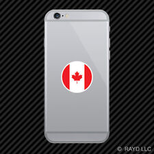 Round Canadian Flag Cell Phone Sticker Mobile Die Cut canada