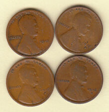1915-P&D 1916-D&S/// NICE CIRCULATED LINCOLN CENTS FAST SHIPPING!