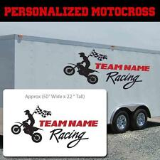 Personalized Motocross Decal, Motox Personalized sticker,Motocross custom decal