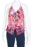 Missoni Womens Silk Beaded Sequin Open Back Halter Top Pink Size IT 38