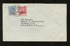 PALESTINE 1949 SURCHARGES TRANSJORDAN COVER to SCOTLAND