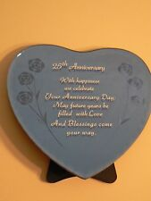 About Face Designs 25th ANNIVERSARY - HEART GLASS PLAQUE #123476 NEW Sentiment