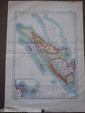 Antique Sumatra Map From 1898 Encyclopedia