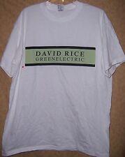 David Rice Green Electric PROMO USA T-Shirt XL Men's