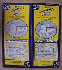 #) A - carte MICHELIN 24 ANDERMATT - BOLZANO 1952