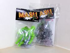 MASH TOXIE GREEN and GUNMETALLIC with COMIC JAPAN SOFUBI KAIJU
