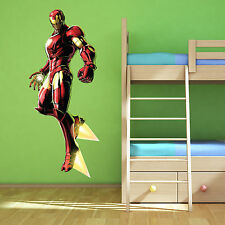 Iron Man Avengers Multi Colour wall art sticker boys bedroom decal Superhero 2