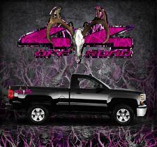 2 4x4 Off Road Truck Camouflage Buck Skull Pink Camo Truck Decals Stickers-BSOSP