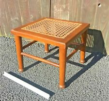 Antique Wooden Hand Woven Ornate Square Stool  Foot Rest Small