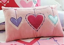 Cubbie House Kids Hearts Embroidered Oblong Cushion