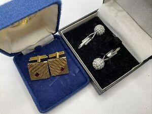 Two Pairs Of Cufflinks Free Postage Very Stylish