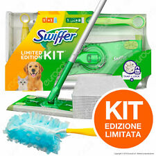 Swiffer Kit Limited Edition Scopa 8 Panni Catturapolvere Manico Duster 1 Piumino