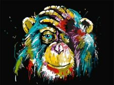 Colorful Monkey Paint By Numbers Kits DIY Number Canvas Painting Hand painted