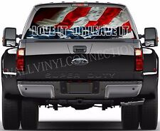 Amerian flag -Pick-Up Truck Perforated Rear Windows Graphic Decal,  Decal