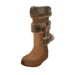 Timberland Toddlers Boots Winter TRBRY 59899 Tall Fur Leather Tall Wheat SZ 7.5