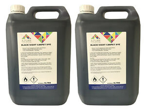 Black Night Vehicle Carpet Dye Mats Interior Renovation - 5L x 2