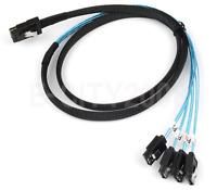 Mini SAS SFF-8087 36-PIN to Reverse 4 SATA 7-PIN HD Splitter Reverse Cable