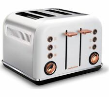 MORPHY RICHARDS Accents 242106 4-Slice Toaster - White & Rose Gold / NEW