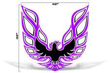 "42"" X 42"" Firebird Hood Graphic Decal Sticker For Pontiac Trans Am PURPLE BLACK"