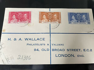 1937 VIRGIN  ISLANDS CORONATION FIRST DAY COVER