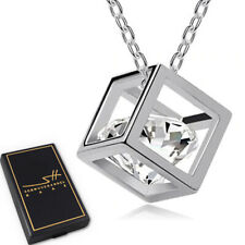Geschenk Halskette Würfel, Silber, + Etui & Zertifikat, Schmuckhandel Haak®