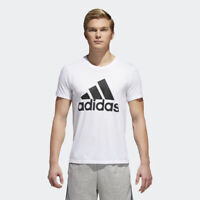 Adidas Men's Shirt Tee Badge of Sport Classic Tee White Black Size L