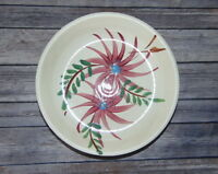 "Roseville R.R.P Rustic Wear 10 1/2 "" Hand Painted Round Floral Serving Bowl"