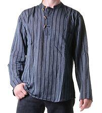 Fischerhemd Kurtha Gestreift Überzieher Hemd Poncho Mittelalter Nepal