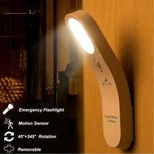 Rotatable LED Motion Sensor Night Light PIR Wall Mounted Indoor Lamp Flashlight