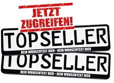 100 Kennzeichenhalter Nummernschildhalter mit Wunschtext Werbung Top Angebot