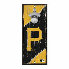 MLB Pittsburgh Pirates Bottle Opener Wood Sign Holzschild Holz Wandschmuck