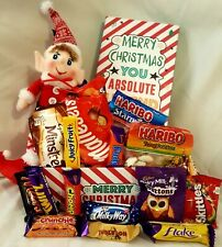 CHRISTMAS EVE GIFT HAMPER CHILDREN CHOCOLATES CAKE ELF PLUSH TOY KIDS PRESENT