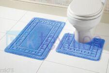 Miami 2 Piece Bath Mat & Pedestal Set, Exclusive Non Slip Bathroom Set