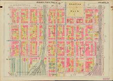 11 ST ATLAS MAP FRANCIS HOSP 2ND 1908 JERSEY CITY HUDSON COUNTY NEW JERSEY ST