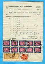 MICHELANGIOLESCA £.10 USATO COME SEGNATASSE +S.TASSE £.500 x 10 + £.100 (274791)