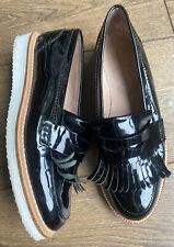 VGC Kurt Geiger Black Patent Leather Kilty Brogues 5 38