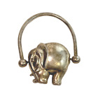 Vintage Silver Elephant Baby Rattle Teether