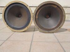 "2 Speaker klangfilm Field Coil  horn 4Ω movie theater 9.6"" NOS cinema kino"